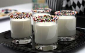 Обои яркий, стакан, настроения, молоко, цветное, драже, полезное, питье