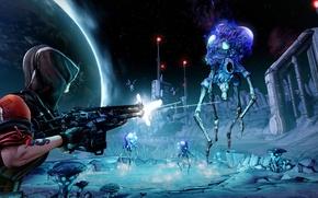 Картинка монстры, Автомат, 2K Games, Gearbox Software, 2K Australia, Borderlands: The Pre-Sequel, Пандора