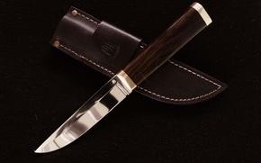 Картинка кожа, Нож, ножны