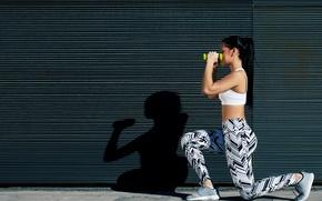 Картинка brunette, fitness, sportswear, situps