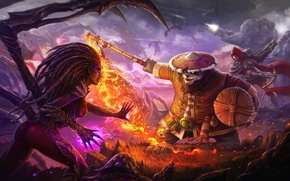 Картинка starcraft, diablo, warcraft, Demon Hunter, Jim Raynor, sarah kerrigan, Heroes of the Storm, Chen, Valla