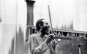 Картинка музыка, джаз, музыкант, басист, джазовый музыкант, Percy Heath, скрипка лук, смеясь