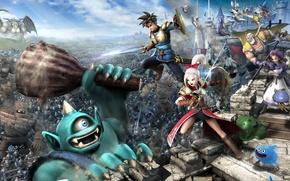 Картинка battlefield, sword, game, chaos, club, war, bricks, Microsoft Windows, heaven, clouds, walls, army, ken, PS3, …