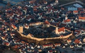 Обои Фобург-на-Дунае, крепость, башня, Германия, Бавария, дома