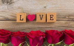 Картинка любовь, цветы, розы, red, love, heart, romantic, Valentine's day, roses