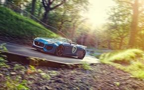 Картинка дорога, Concept, скорость, Jaguar, ягуар, Project 7