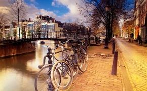 Обои Амстердам, Улочка, Велики