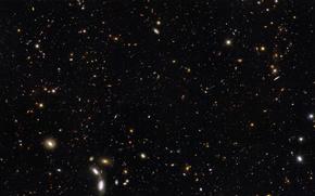 Картинка Хаббл, Вселенная, Галактики, НАСА, Galaxies Hubble Ultra Deep Field Partial, 12 биллионов световых лет