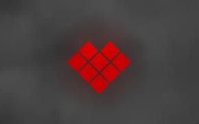Картинка любовь, сердце, минимализм, love, minimalism, heart, пиксель, pixel, soft