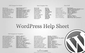 Картинка интернет, PHP, WordPress, шпаргалка, CMS