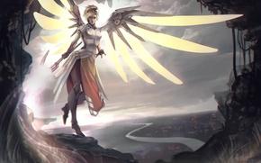 Картинка Game, Blizzard Entertainment, Overwatch, Mercy