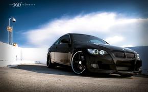 Обои небо, облака, обои, 360 forged, BMW 335i, бэха купе