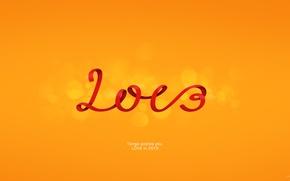Обои LOVE, tengo, любовь, happy new year, новый год, orange, ораньжевый, 2013