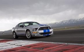 Обои горы, Shelby, GT500KR, muscle car, гоночный трек