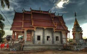 Картинка oriental, monastery, building under construction
