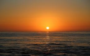 Картинка море, солнце, закат