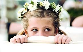 Картинка девочка, взгляд, венок, актриса, Соблазнитель 2, Kokowääh 2, Emma Schweiger, Эмма Швайгер, Magdalena