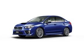 Обои STI, белый фон, субару, Subaru, WRX