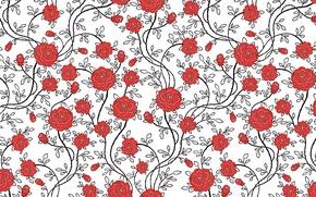 Картинка цветы, розы, текстура, pattern
