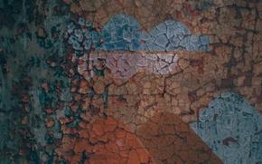 Картинка стена, краска, цвет, текстура, ржавчина, wall, texture, color