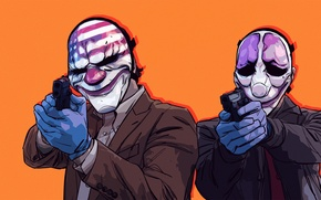 Картинка Gun, Houston, Dallas, Mask, PAYDAY 2