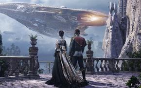 Картинка будущее, корабль, дюна