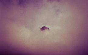 Картинка clouds, mountain, peak