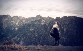 Обои танец, девушка, горы