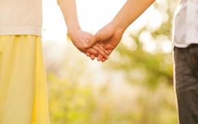 Обои лето, девушка, любовь, счастье, widescreen, обои, романтика, настроения, женщина, нежность, чувства, размытие, весна, защита, утро, ...