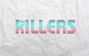 Обои the killers, надпись, логотип, музыка, группа