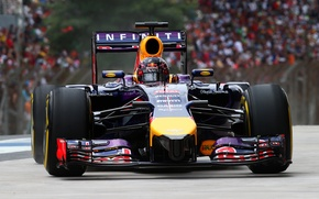 Картинка Фон, Formula 1, Red Bull, Vettel, Фас