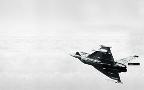 Картинка облака, самолет, typhoon