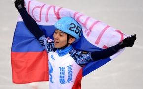 Картинка флаг, Олимпиада, золотая медаль, олимпийские игры, Сочи 2014, sochi 2014, Виктор Ан, ПЯТИКРАТНЫЙ ЧЕМПИОН