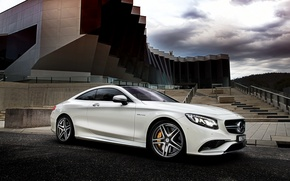 Обои 2015, mercedes-benz, s 63, amg, coupe, au-spec, c217