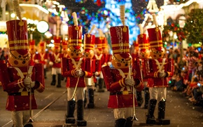Обои christmastime parade, walt, disney, world
