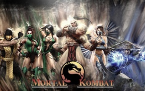 Обои Смертельная Битва, Kitana, Mortal Kombat, Горо