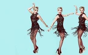 Обои танец, Scarlett Johansson, Скарлетт Йоханссон, фотосессия, 2015, Saturday Night Live