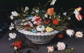 Картинка картина, ваза, Ян Брейгель младший, Натюрморт с Цветами