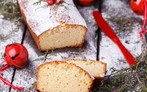 Картинка Рождество, пирог, Новый год, доска, Christmas, выпечка, сладкое, кекс, pie, baking