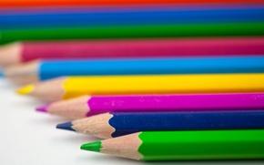 Картинка цветные, карандаши, Pencils, Coloured