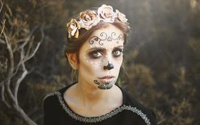 Картинка лицо, раскрас, dia de los muertos, день мёртвых