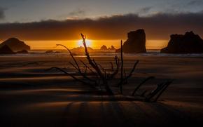 Картинка море, ночь, берег