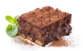Обои торт, выпечка, крем, десерт, шоколад, пирожное, сладкое