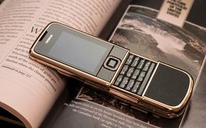 Обои Нокия, Nokia, Ретро, Arte, Rose Gold, Телефон, Nokia 8800