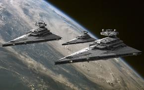 Картинка космос, планета, Star Wars, Звездные войны, Имперский звездный разрушитель