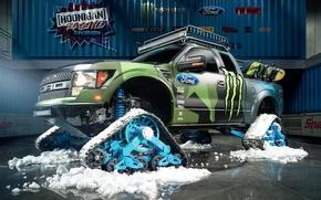 Картинка Ford, Racing, Monster Energy, Ken Block, Division, F-150, 2014, Hoonigan, RaptorTRAX