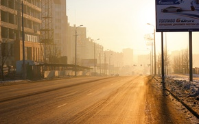 Обои рассвет, утро, Челябинск
