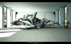 Обои комната, робот, transformer v4