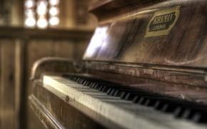 Картинка hdr, piano, focus, Kirkman