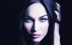 Картинка Меган Фокс, Megan Fox, Губы, Глаза, Красотка